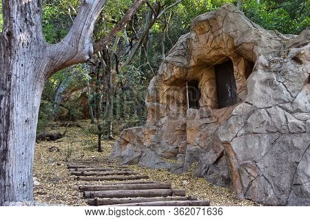 Disguised Stone Bunker Cabin In The Woods, Rustenburg, South Africa