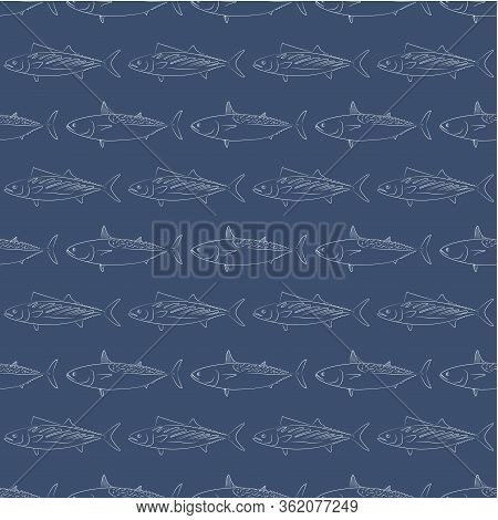 Fish. Colored Vector Patterns. Marine Life, Ocean, Oceanology. Isolated Pattern For Notebook, Textil