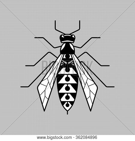 Wasp Thin Line Icon. Hornet Symbol For Logo And Web Design, Branding Element Vector Illustration. St