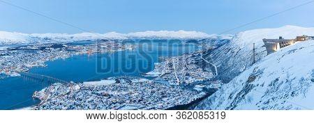 Panoramic view on Tromso, Norway, Tromso At Winter Time, Norway