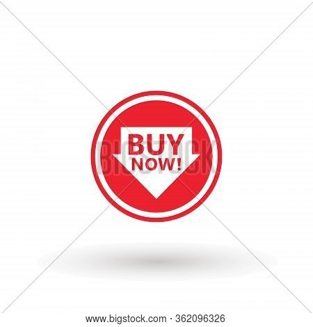 Sale Icon : Buy Now Signage. Arrow Buy Now Icon Button In Vector File Isolated On White Background.