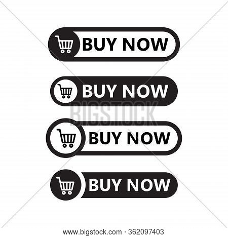Sale Icon : Buy Now Signage. Shopping Cart Buy Now Line Icon Button In Vector File Isolated On White