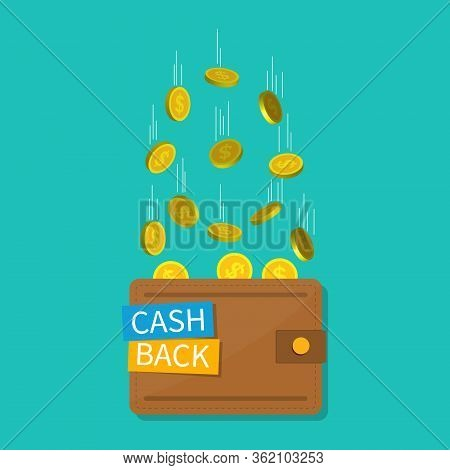 Cashback In Wallet. Cash Money Back. Bitcoin, Blockchain, Crypto Tags For Pay In App. Refund And Sav