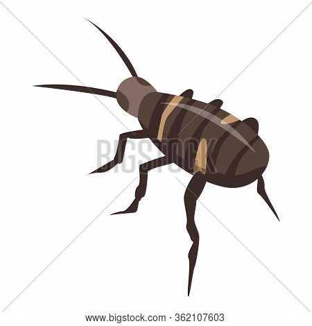 Exterminator Roach Icon. Isometric Of Exterminator Roach Vector Icon For Web Design Isolated On Whit