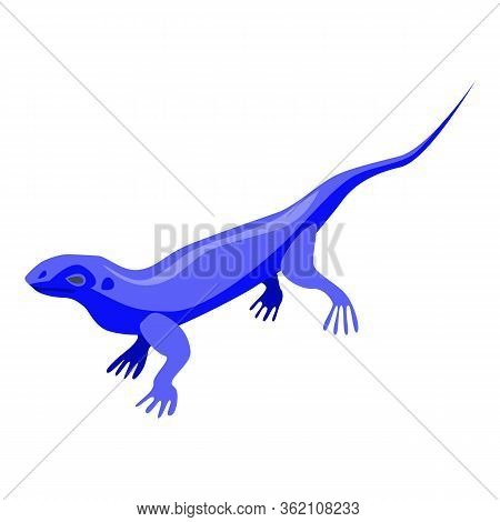 Blue Lizard Icon. Isometric Of Blue Lizard Vector Icon For Web Design Isolated On White Background