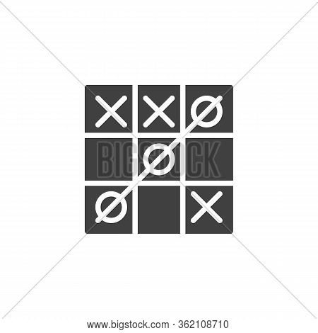 Tic Tac Toe Game Vector Icon. Filled Flat Sign For Mobile Concept And Web Design. Tic-tac-toe With A