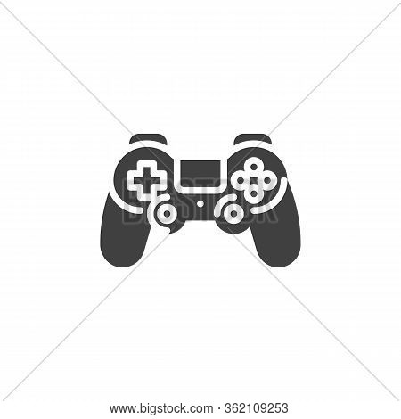 Game Controller Vector Icon. Filled Flat Sign For Mobile Concept And Web Design. Console Gamepad Con