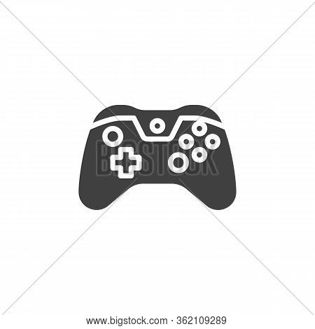 Gamepad Controller Vector Icon. Filled Flat Sign For Mobile Concept And Web Design. Console Game Con