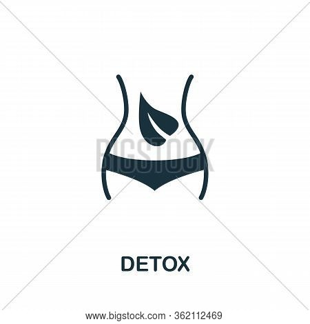 Detox Icon. Simple Illustration From Biohacking Collection. Creative Detox Icon For Web Design, Temp