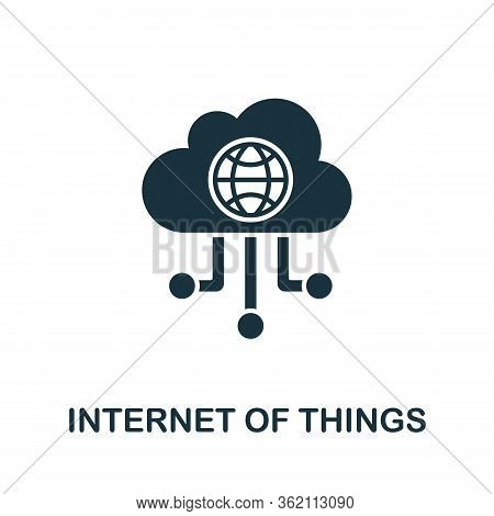 Internet Of Things Icon From Digitalization Collection. Simple Line Internet Of Things Icon For Temp