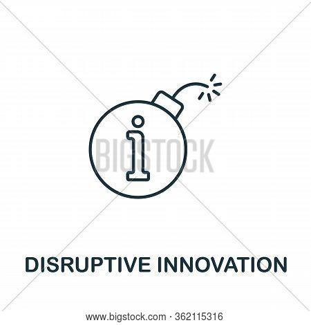 Distruptive Innovation Icon From Fintech Collection. Simple Line Distruptive Innovation Icon For Tem