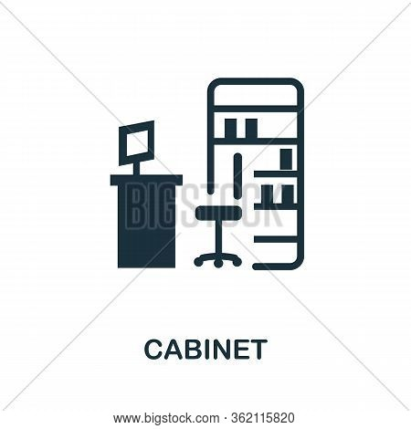 Cabinet Icon. Simple Illustration From Furniture Collection. Creative Cabinet Icon For Web Design, T