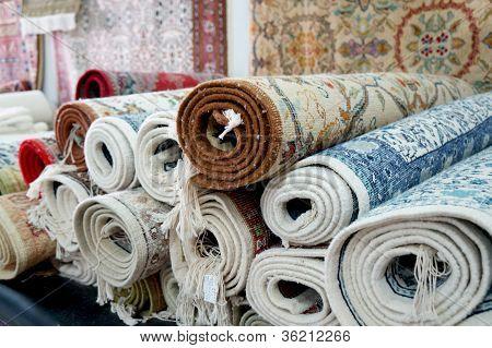 handmade carpets in the tunisian Kairouan