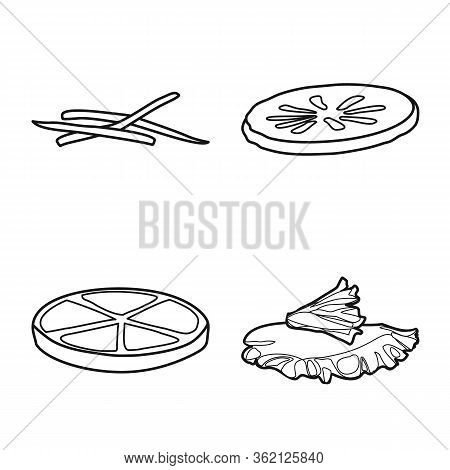 Vector Design Of Fastfood And Ingredient Icon. Collection Of Fastfood And Cuisine Vector Icon For St