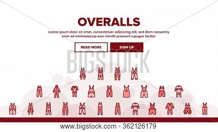 Overalls Worker Protect Clothes Landing Web Page Header Banner Template Vector. Human Protection Ove