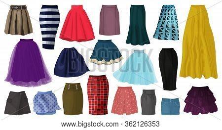 Woman Skirt Vector Cartoon Set Icon. Isolated Cartoon Set Icon Fashion Clothing. Vector Illustration