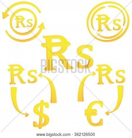 3d Mauritian Rupee Currency Symbol Icon Of Mauritius Vector Illustration On A White Background