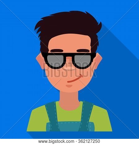 Isolated Object Of Guy And Contempt Icon. Collection Of Guy And Glasses Vector Icon For Stock.