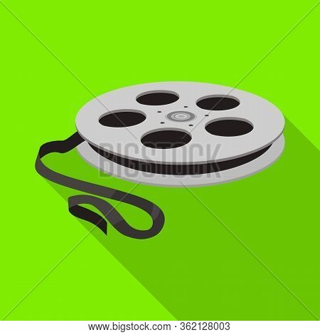 Vector Design Of Reel And Movie Icon. Web Element Of Reel And Clapper Vector Icon For Stock.