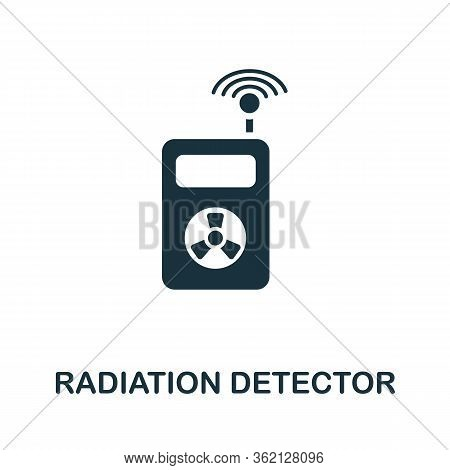 Radiation Detector Icon. Simple Illustration From Personal Protection Collection. Creative Radiation