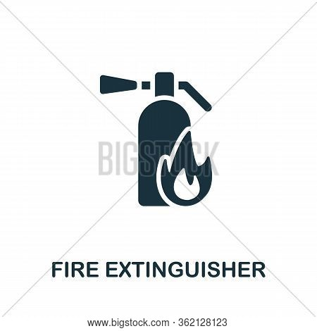 Fire Extinguisher Icon. Simple Illustration From Personal Protection Collection. Creative Fire Extin