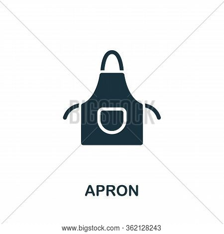 Apron Icon. Simple Illustration From Personal Protection Collection. Creative Apron Icon For Web Des