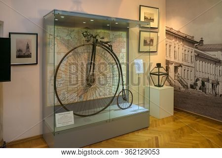Murom, Russia - August 24, 2019: Antique Bike. Exposition  In The Murom Museum Of History And Art