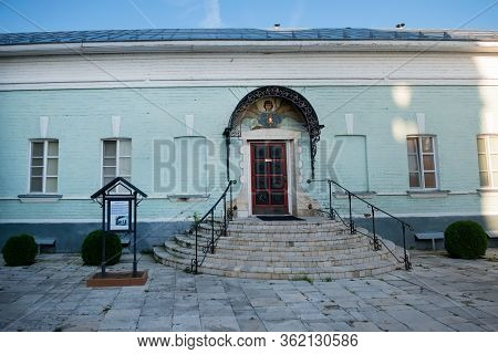 Murom, Russia - August 24, 2019: Porch Of The Eastern Cell Building In The Annunciation Monastery In