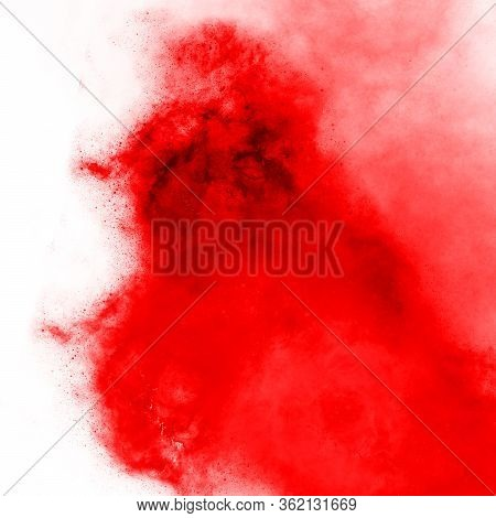 Red Color Watercolor Splash, Bright Expressive Abstract Background Wallpaper Backdrop Texture. Water