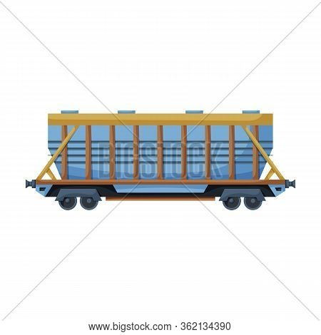 Wagon Of Locomotive Vector Icon.cartoon Vector Icon Isolated On White Background Wagon Of Locomotive