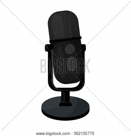 Mic Vector Icon.cartoon Vector Icon Isolated On White Background Mic.