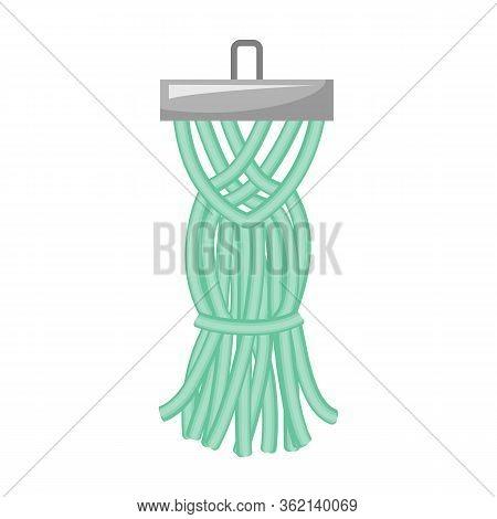 Tassel Brush Vector Icon.cartoon Vector Icon Isolated On White Background Tassel Brush.