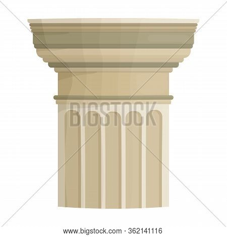 Pillar Column Vector Icon.cartoon Vector Icon Isolated On White Background Pillar Column.