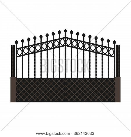 Fence Gate Vector Icon.cartoon Vector Icon Isolated On White Background Fence Gate.