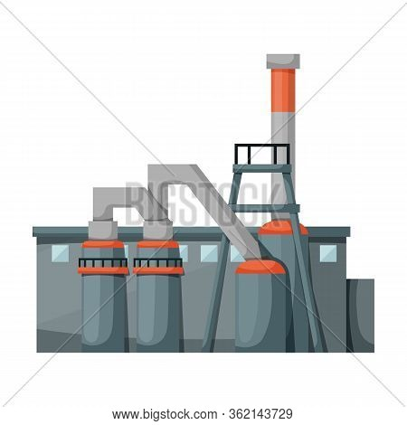 Factory Building Vector Icon.cartoon Vector Icon Isolated On White Background Factory Building.