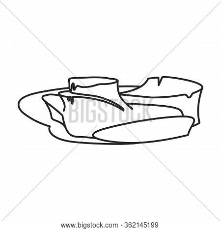 Underwater Iceberg Vector Icon.outline Vector Icon Isolated On White Background Underwater Iceberg.