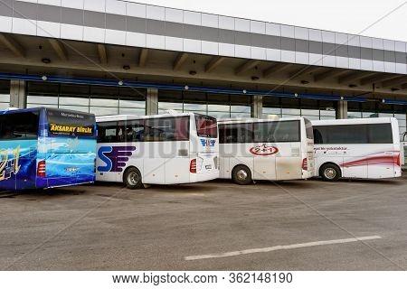 Ankara, Turkey - July 24, 2018: View Of Asti Bus Terminal In Ankara City In Overcast Day. Ankara Is