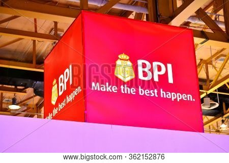 Pasay, Ph - Apr 1- Bank Of The Philippine Islands (bpi) Booth Sign At Manila International Auto Show