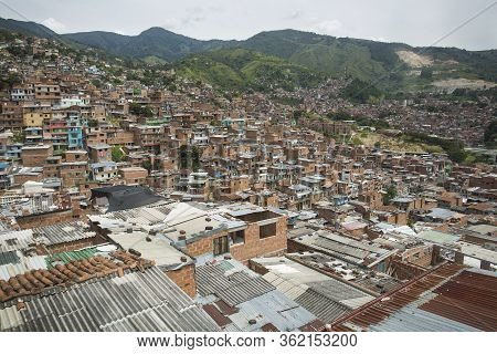 Medellín, Antioquia / Colombia - July 8, 2019. Commune 13, San Javier Is One Of The 16 Communes Of T