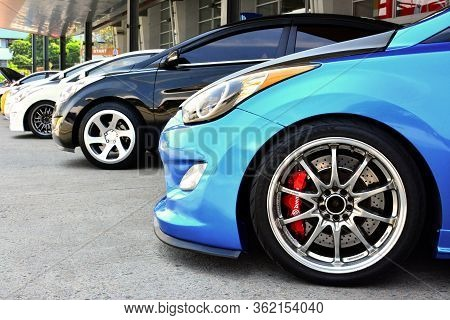 Pasay, Ph - Apr 1- Tuner Car Wheels At Manila International Auto Show On April 1, 2017 In Pasay, Phi