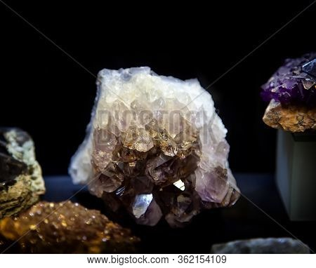 Natural Amethyst Stone, Purple Amethyst Crystals Close-up