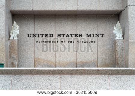 Exterior of the United States Mint in Philadelphia, Pennsylvania, USA on July 5, 2019.