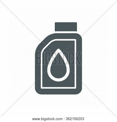 Lubricant Oil Vector Icon Design On White Background.