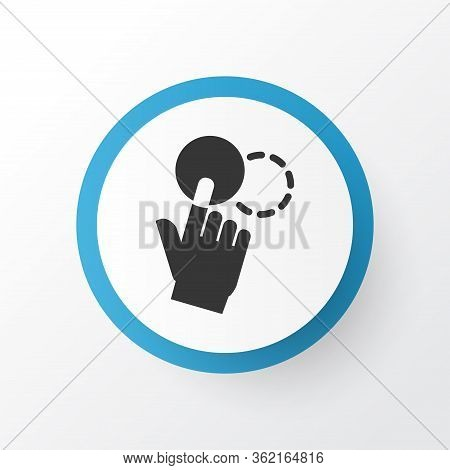 Drag Drop Icon Symbol. Premium Quality Isolated Scroll Element In Trendy Style.