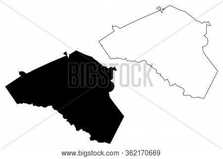 Clarke County, Georgia (u.s. County, United States Of America,usa, U.s., Us) Map Vector Illustration