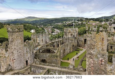 A Daytime Conwy And Conwy Castle Shot