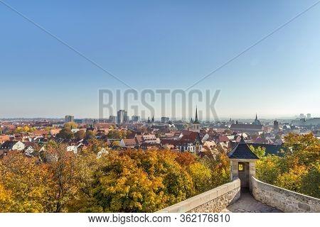 Panoramic View Of Erfurt From A Petersberg Citadel, Germany