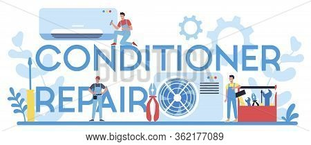 Air Conditioning Repair And Instalation Service Typographic Header