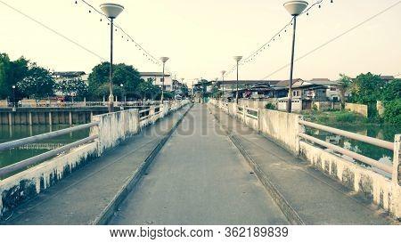 Lampang, Thailand, 10 October 2019,the Bridge Over Nam Wang The Official Name Is Ratsadaphisek Bridg