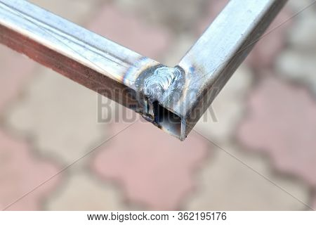 Weld Seam. Metal Profile. Welding Seam. Welded Joint. Welding Work